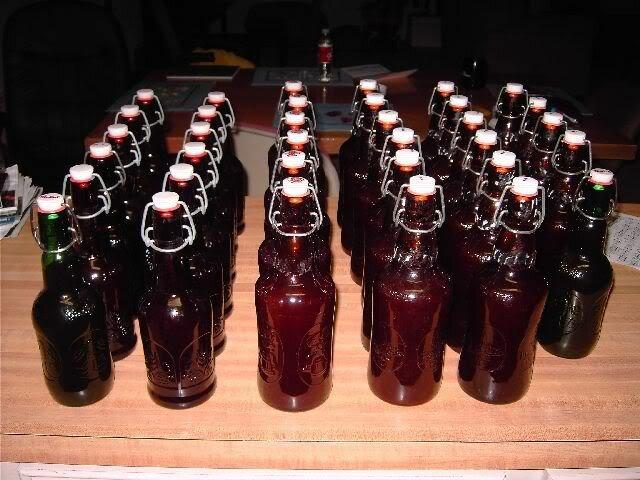 ginger brew in Grolsch style bottles